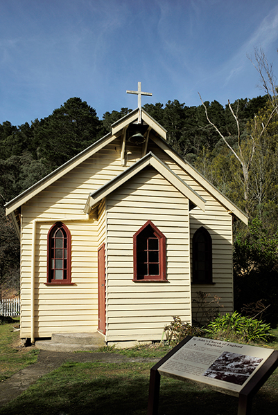 Exposure critical or you would not be able to read the sign at the front of the church.